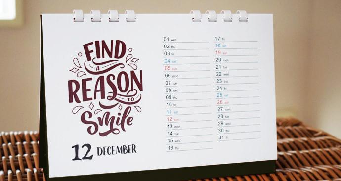 エコカレンダー(オンデマンド印刷)